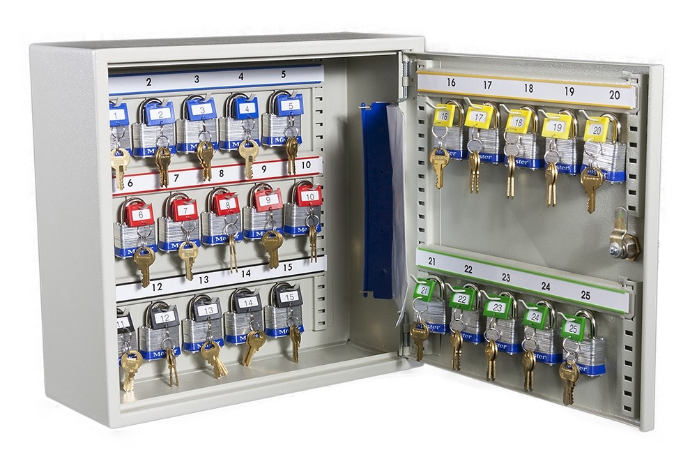 Deep Key 25 Hook Transponder Cabinet - Open