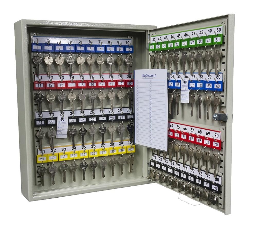 80 Hook Key Cabinet - Open