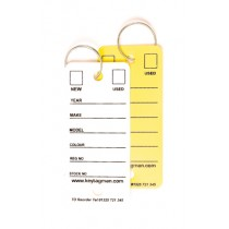 White & Yellow Durable Easy Key Tags