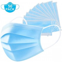 DISPOSABLE CIVILIAN PROTECTIVE FACE MASK BFE > 95% - 50 PACK